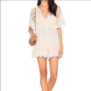 Astr the Label Selena romper in Ivory size XS
